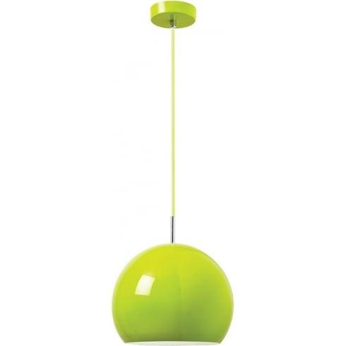 Endon Lighting Alzira ALZIRA-GR Green Pendant Ceiling Light