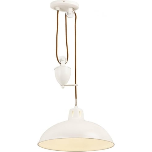 Endon Lighting Polka POLKA-CR Cream Pendant Ceiling Light