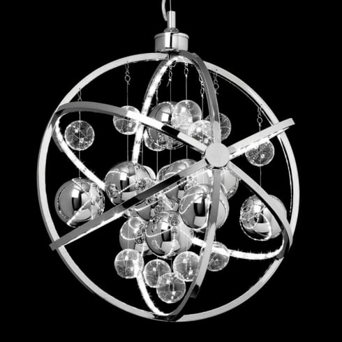 Endon Lighting Muni MUNI-CH Chrome Pendant Ceiling Light