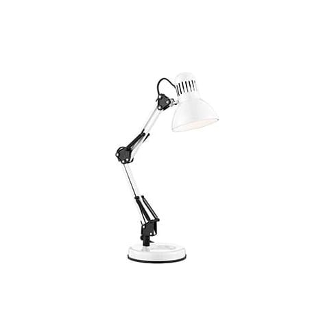 Searchlight Electric 2429WH Shiny White Hobby Table Lamp