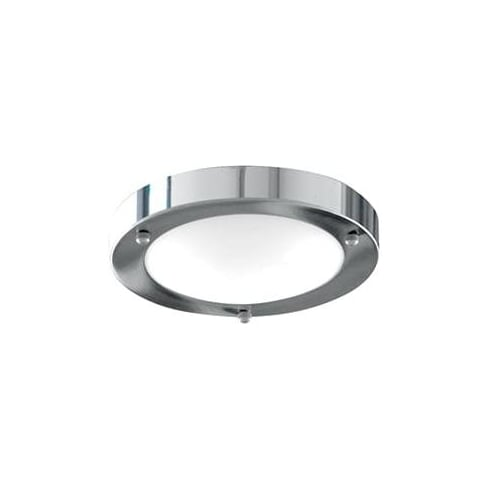 Searchlight Electric 1131-31CC Domed Chrome With Marble Glass Shade Bathroom Flush Fitting