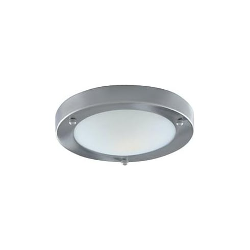 Searchlight Electric 1131-31SS Domed Satin Silver With Marble Glass Shade Bathroom Flush Fitting