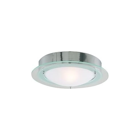 Searchlight Electric 3108CC Chrome With Opal Glass Shade Bathroom Flush Fitting
