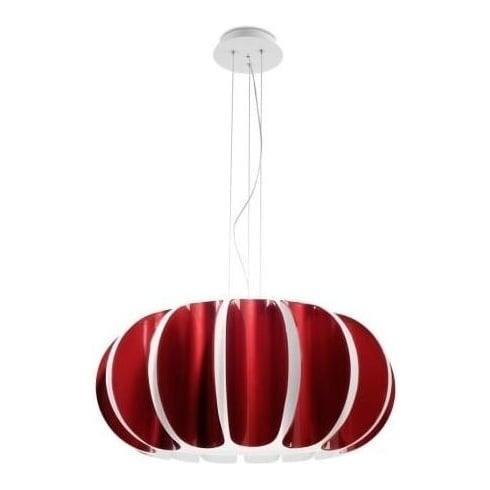LedsC4 Lighting Blomma 25-4391-BW-03 RED Modern Pendant by Grok