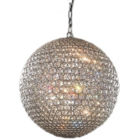 Illuminati Lighting Srl Milano MD103204-5AGOL/CLR Medium Pendant Gold with Clear Crystal