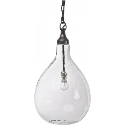 Libra Company Bubble Pendant 36209 Clear Hand Blown Glass Ceiling Light Bronze Metal Work