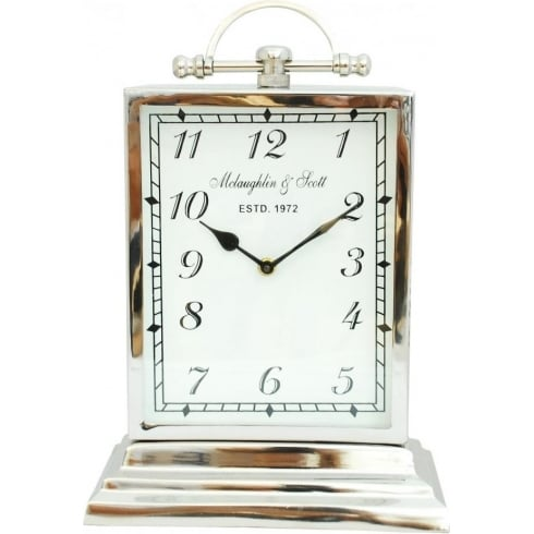 Libra Company Chaucer Clock 137176 Medium Aluminium Rectangular