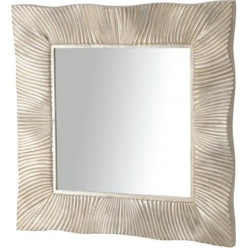Libra Company Shimmering Silver Square Mirror 255101