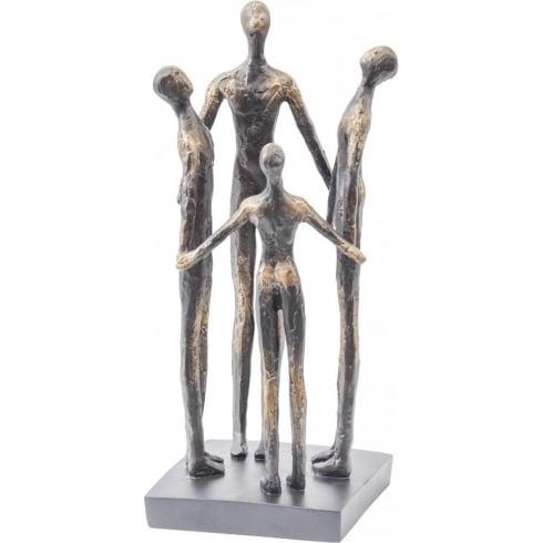 Libra Company Family Circle Resin Sculpture in Rough Bronze 337571