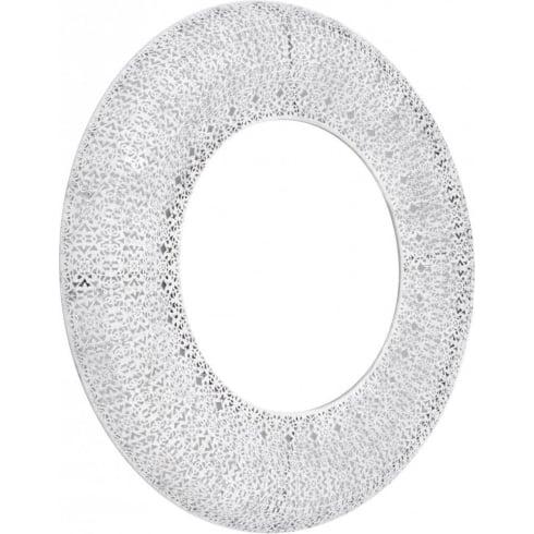 Libra Company Amberley Filigree Round White Decorative Mirror 337585