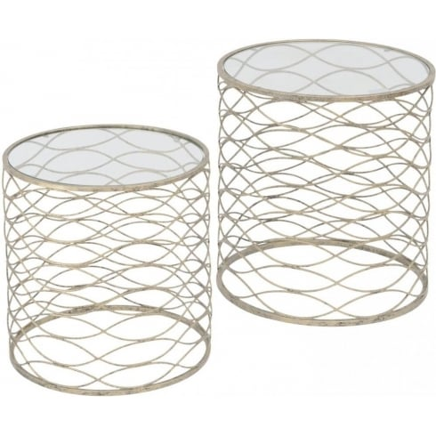 Libra Company Gatsby 231148 Set of Two Gold Nesting Side Tables