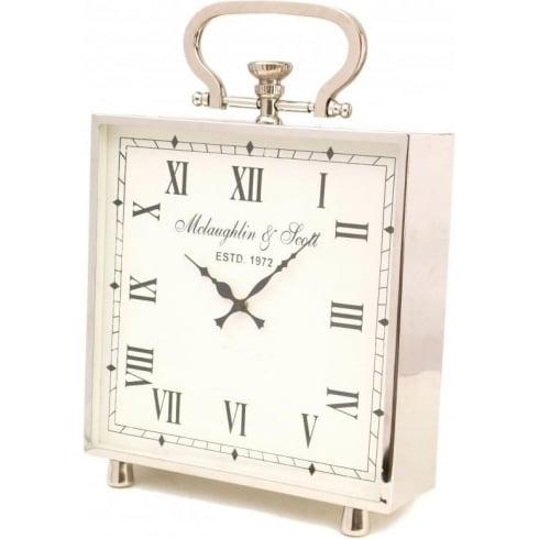 Libra Company Ambassador Large Square Clock 137913 Polished Chrome