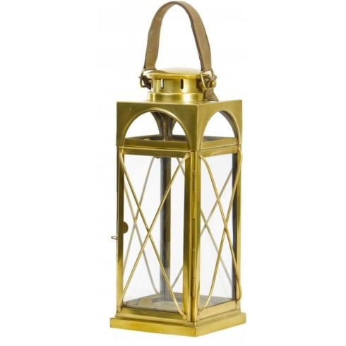 Libra Company Antique Brass Large Floor Standing Lantern 134911