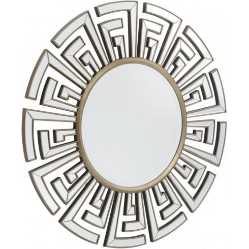 Libra Company Claridge 235256 Round Patterned Classic Art Deco Mirror