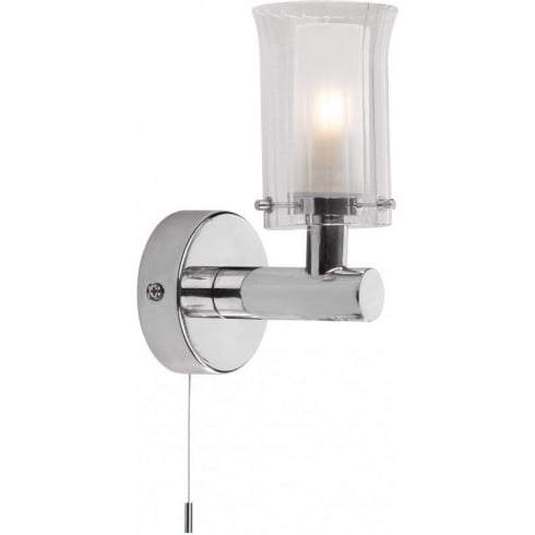 Dar Lighting Elba ELB0750 IP44 Polished Chrome Wall Fitting