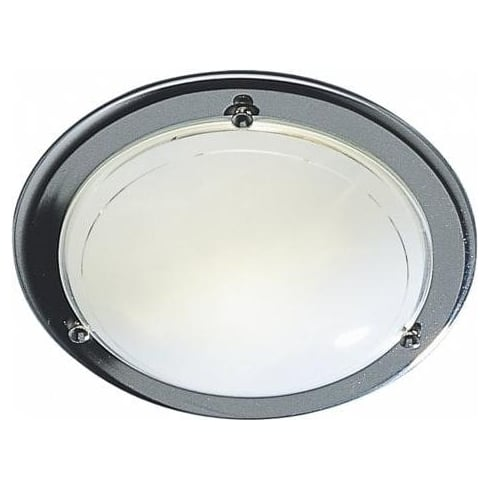 Dar Lighting Disc DIS5250/2D Chrome Small Flush Ceiling Light