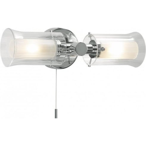 Dar Lighting Elba ELB0950 IP44 Polished Chrome 2 Light Wall Fitting