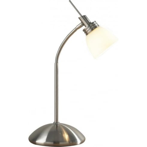 Dar Lighting Agean AGE4046 Satin Chrome Touch lamp