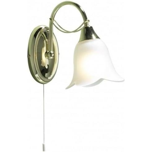 Dar Lighting Doublet DOU0740 Brass Wall Light