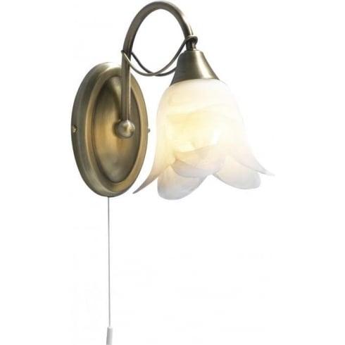 Dar Lighting Doublet DOU0775 Antique Brass Semi Flush Ceiling Fitting