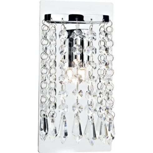 Dar Lighting Tiara TIA0750 Polished Chrome Wall Light