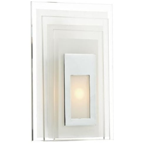 Dar Lighting Binary BIN072 Frosted Glass LED Wall Light