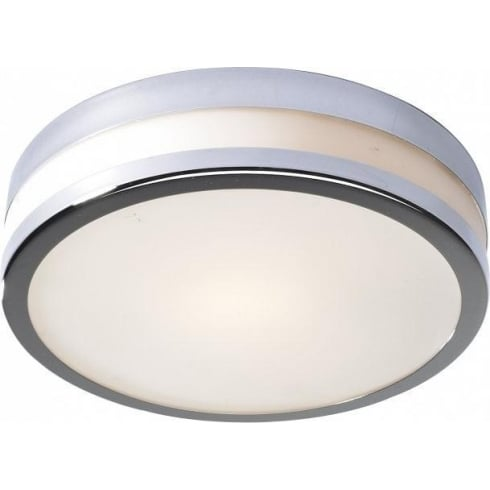 Dar Lighting Cyro CYR5250 Polished Chrome IP44 Flush Small Ceiling Light
