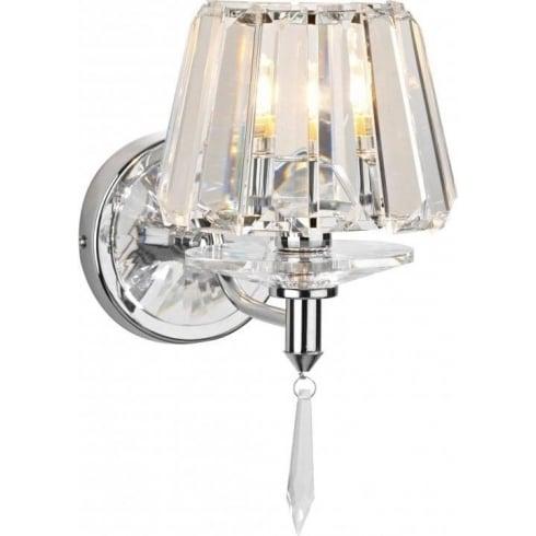 Dar Lighting Selina SEL0750 Polished Chrome Wall Light