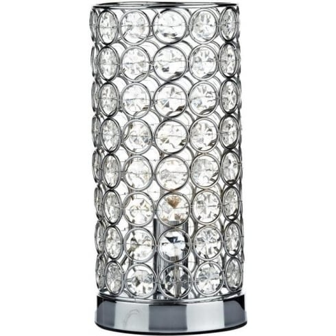 Dar Lighting Frost FRO4250 Polished Chrome Touch Table Lamp