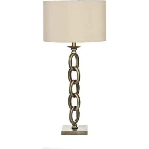 Dar Lighting Tarquin TAR4235/X Silver/Gold Table Lamp & Shade