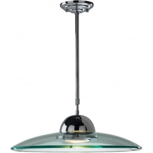 Dar Lighting Hemisphere HEM8650 Polished Chrome Glass Pendant
