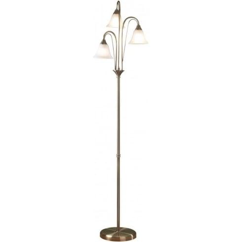 Dar Lighting Boston BOS49 Antique Brass Floor Lamp