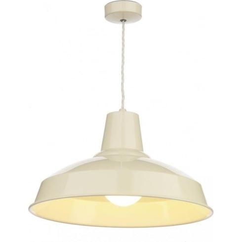 Dar Lighting Reclamation REC0133 Cream Pendant