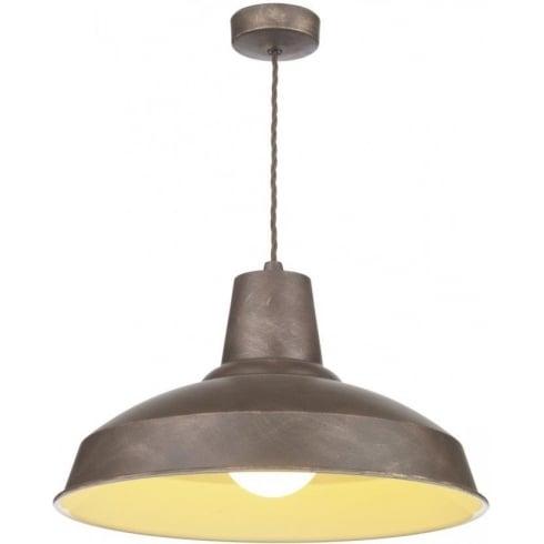 Dar Lighting Reclamation REC0163 Weathered Bronze Pendant