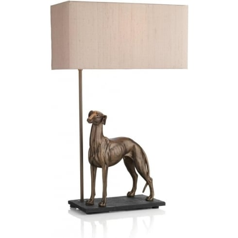 Dar Lighting Greyhound GRE4363 Bronze Table Lamp & Shade