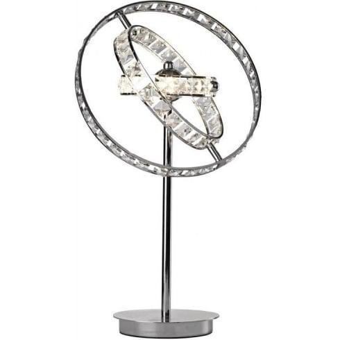 Dar Lighting Eternity ETE4050 Polished Chrome LV 4 Light Table Lamp