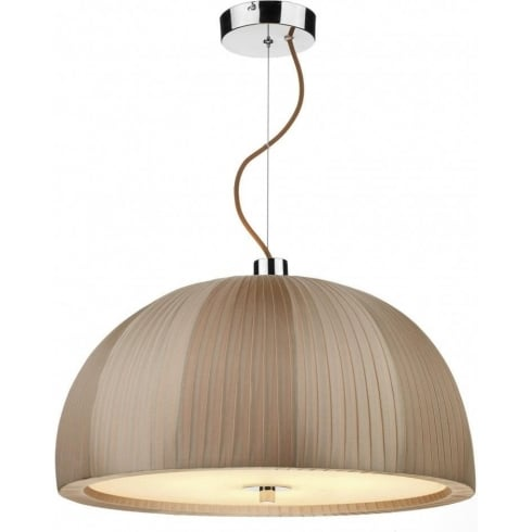Dar Lighting ARC ARC0329 Taupe 3 Light Pendant