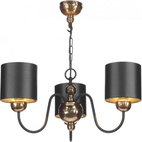 Dar Lighting Garbo GAR0373 Bronze 3 Light Pendant & Shade