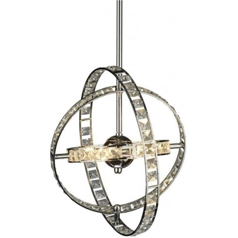 Dar Lighting Eternity ETE6450 Polished Chrome LV 6 Light Pendant Shortened Rod
