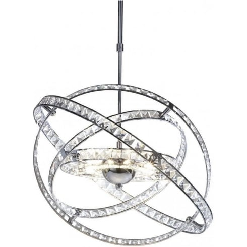 Dar Lighting Eternity ETE2350 Polished Chrome LV 10 Light Pendant