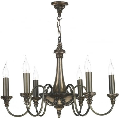 Dar Lighting Bailey BAI0663 Rich Bronze 6 Light Pendant