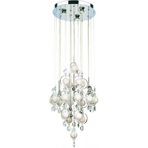 Dar Lighting Cloud CLO1250 Polished Chrome 12 Light Baubles Ceiling Pendant