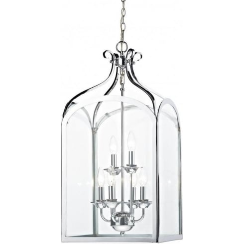 Dar Lighting Senator SEN0650 Polished Chrome 6 Light Pendant