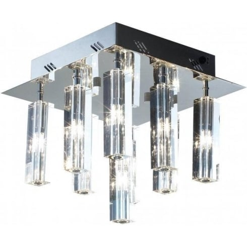 Dar Lighting Galileo GAL1350 Polished Chrome Flush 9 Light Ceiling Light