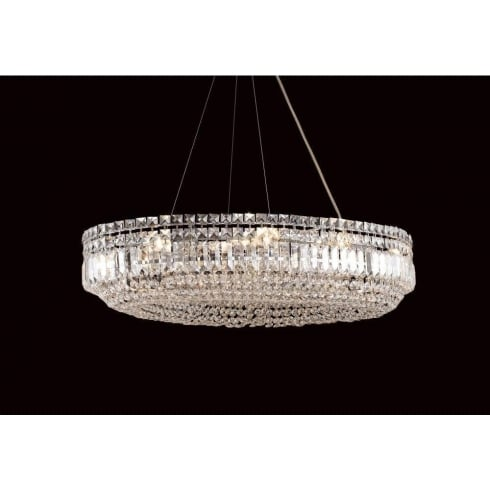 Impex Russell OLOVO CE09192/12/CH Polished Chrome Semi-Flush Pendant