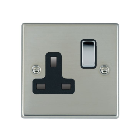 Hamilton Litestat Hartland 73SS1BC-B Bright Chrome 1 gang 13A Double Pole Switched Socket