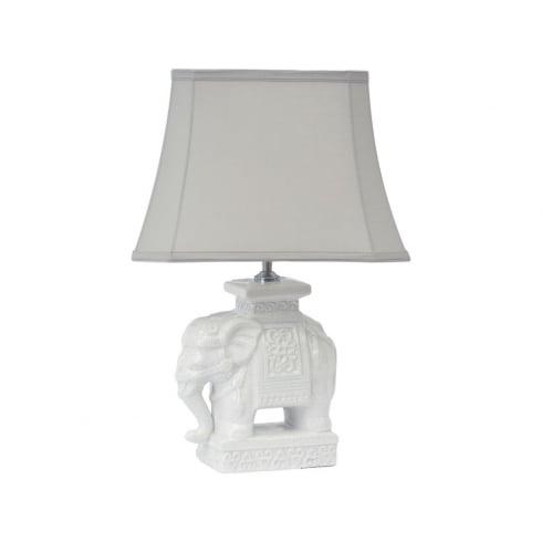 Libra Company Elephant 337950 Ceramic Table Lamp With Lamp Shade