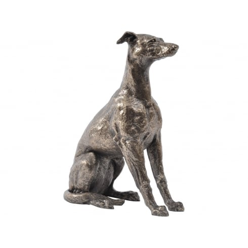 Libra Company John Piper For Libra 700123 Lily Sitting Whippet Statue in Antique Bronze