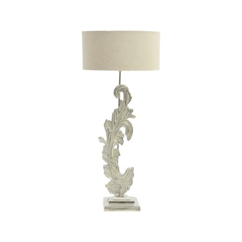 Libra Company Damask 337768 Large Washed Nickel Table Lamp With Beige Fabric Lamp Shade