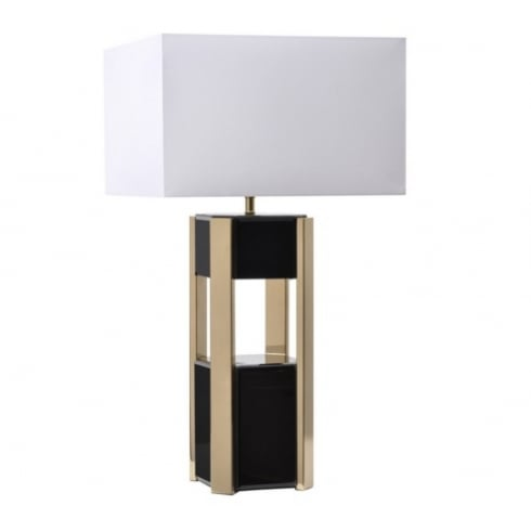 Libra Company Blaise Black 700059 Glass Table Lamp